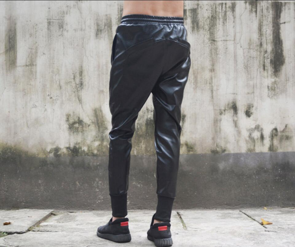 Trousers Pants Hairstylist Singer New 27-44 Autumn Slim Tide Nightclub Stitching Foot-Feet