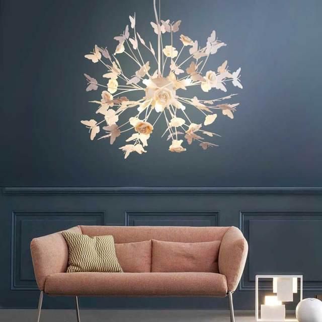 Moderne Schmetterling LED Kristall Kronleuchter Lichter Lampe Für Mädchen  Wohnzimmer Lustre Kronleuchter Anhänger Hängen 060952