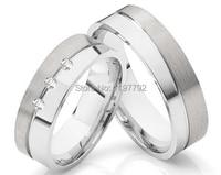 Скидка 2016 дешевые мужского покроя серебристого цвета мужские и женские titanium стали обручальное пару кольца ювелирные изделия
