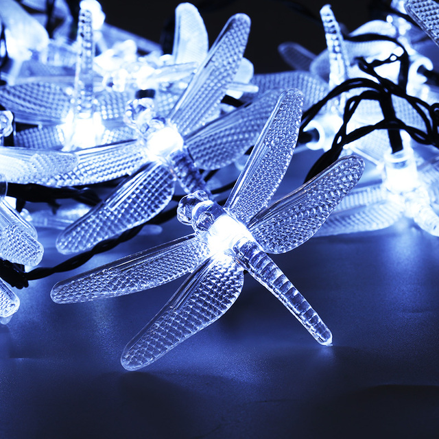 30 leds dragonfly fairy string lights solar power for outdoor 30 leds dragonfly fairy string lights solar power for outdoor lighting garden party home holiday decor mozeypictures Choice Image