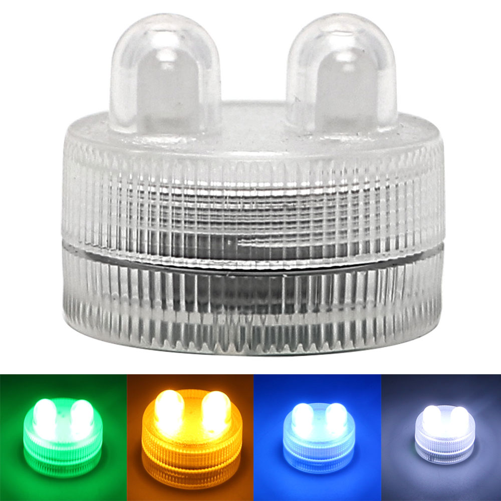 4 Colors Holiday Lighting Waterproof Home Decoration Tea Light Vase Light Candles Lamp Submersible LED