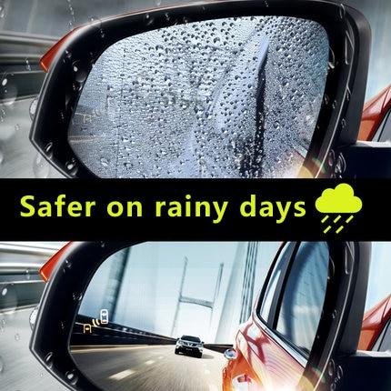 2Pcs Nano Car Rearview Mirror Protective Film Anti Fog Window Clear Rainproof Rear View Mirror Protective Soft Film Car Sticker