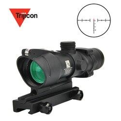 Trijicon ACOG 4X32 прицел Сфера Настоящее красный источник волокна красный прицел для винтовки с подсветкой w/RMR микро красная точка