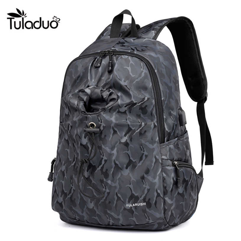 Мужской рюкзак повседневные студенческие сумки для колледжа и школы Оксфордский рюкзак для ноутбука большая емкость сумка для компьютера мужская двойная сумка на плечо