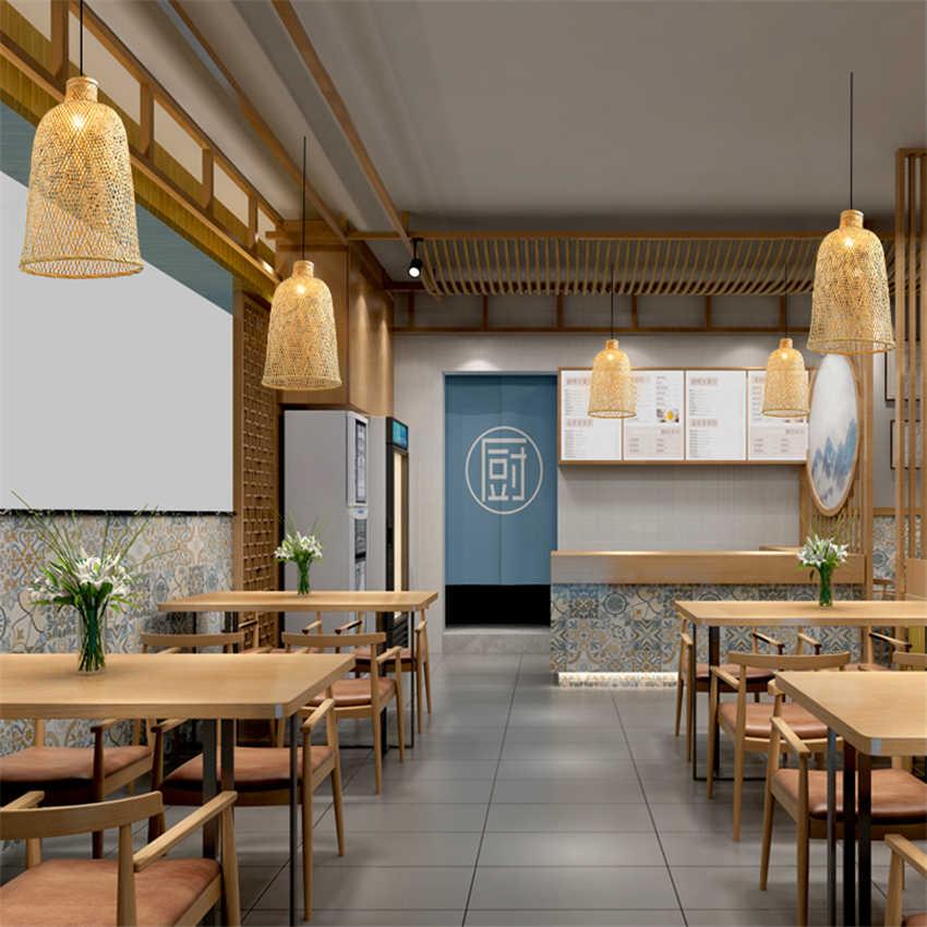 Юго-Восточной Азии фонари подвесные светильники ручной работы отель homession Чайный домик китайский ресторан бамбуковые подвесные лампы деко светильники