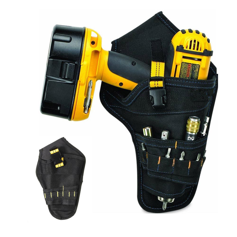 Heavy-duty Drill Holster Tool Belt Pouch Bit Holder Hanging Waist Bag Drill Tool Storage Bags --M25