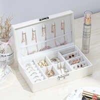 Frauen Tragbare Schmuck Make-Up Veranstalter Reisen Kosmetische Lippenstift Sammlung Box Halsketten Ohrringe Armband Display Zubehör