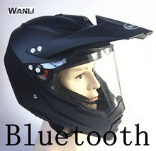 Alto-falantes BT bluetooth capacete da motocicleta 2017 DOT motocross ouvir música ligação da apple ou android estrada capacete cruz
