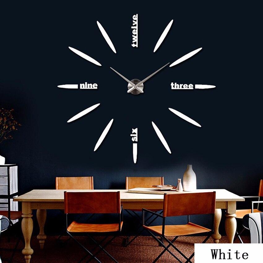 Böyük Divar Saatı 2020 Divar Saatı Akril + EVR + Metal Güzgü - Ev dekoru - Fotoqrafiya 6