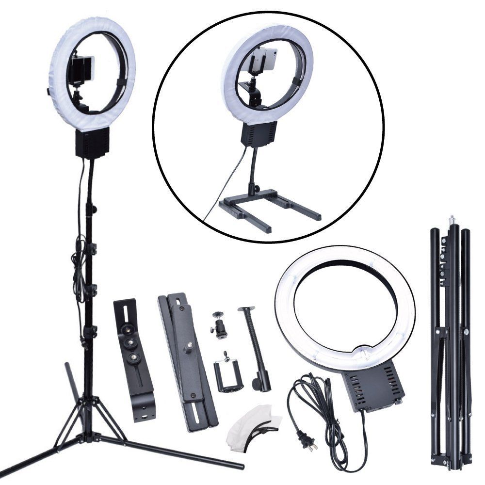 Studio 40W 5400K DIVA Ring Light with Tripod Stand Table Top Kit for Photography Camera Photo Video Phone Beauty Make Up Selfie neewer table top mini led ring light lighting kit includes for beauty blog make up selfie studio portrait video photography
