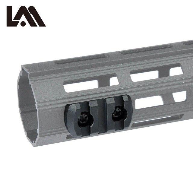 LAMBUL 3 5 9 Slots AR15 M4 M16 M-LOK Rail Section Fits AR-15 MLOK Handguard to Mounted a Waepon Light or a Red Green Laser