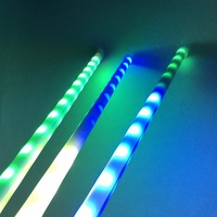 16mm laiteux DC12V adressable 1M 3D WS2812B RGB météore lumière de tube; 64 pièces WS2812B led/32 pixels; avec 4 core 13.5mm connecteur mâle|Éclairage de scène à effet|   -