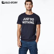 GLO-STORY 2019 Fashion Summer Mens Short Sleeve T-Shirt Fun Style Streetwear Male Tops Tee Shirts MPO-8688