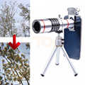 2017 Clips Universal 18X Telescopio Óptico de La Lente Lentes de Cámara Teleobjetivo Zoom lente para iphone 7 5 6 s samsung trípode teléfono celular