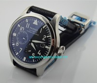 47 mm PARNIS Black dial Automatic Self Wind movement power reserve men watches Mechanical watches G003A