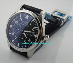 47 mm PARNIS Black dial Automatic Self-Wind movement power reserve men watches Mechanical watches G003A