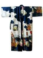 סקסי כחול כהה סיני המשי ריון נשים חלוק קימונו אמבט שמלת פרחי Sml XL XXL XXXL משלוח חינם S0015