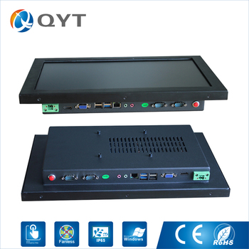 """18.5"""" all-in-one pc with Intel j1900 2.0GHz 4usb/2rs232/wifi industrial tablet pc with Resistive touch screen 1366x768"""