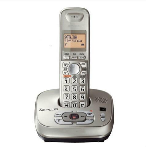 KX-TG4021 Dect-6.0 handset telefone sem fio telefone Sem Fio digital com Sistema de Atendimento