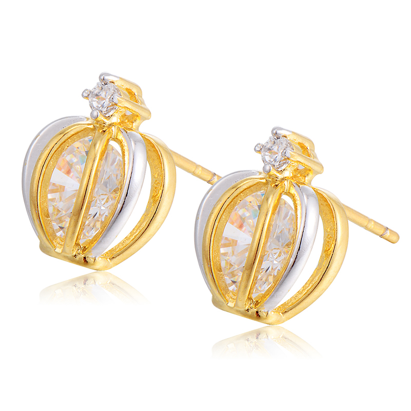 Animal Cute Children Jewelry Set Yellow Gold Filled CZ Adjustable ...