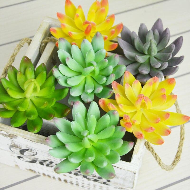 Artificial fleshiness Cactus Aloe Succulent plant louts landscape PU decorative flower home Balcony decoration