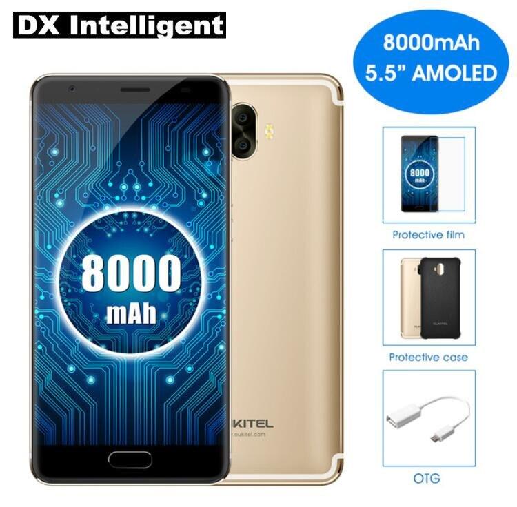 OUKITEL K8000 5.5 pouce HD MTK6750T Octa Core 4g LTE Mobile Téléphone Android 7.0 4 gb RAM 64 gb ROM 13MP Double Retour Caméras D'empreintes Digitales