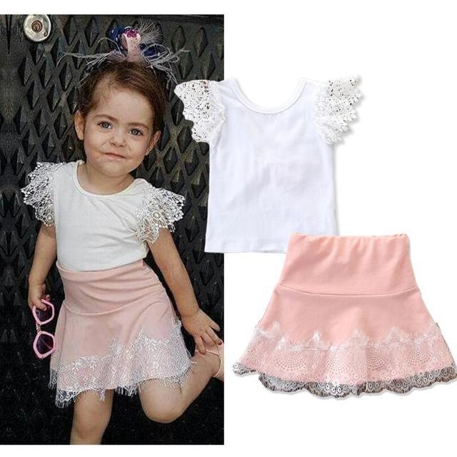 2019 אביב סתיו ילדי בנות סט חדש מותג אופנה מוצק חולצות + כותנה מכנסיים 2 חתיכות חליפות מזדמנים ילדים בגדים סטים חם
