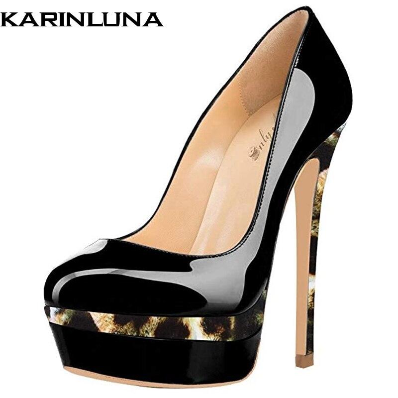 4c6835a05dd Sexy Plataforma Gold Red Zapatos Bombas Cuero Gold Marca Tamaño Plus gray  Mujer Patente red black Diseño ...