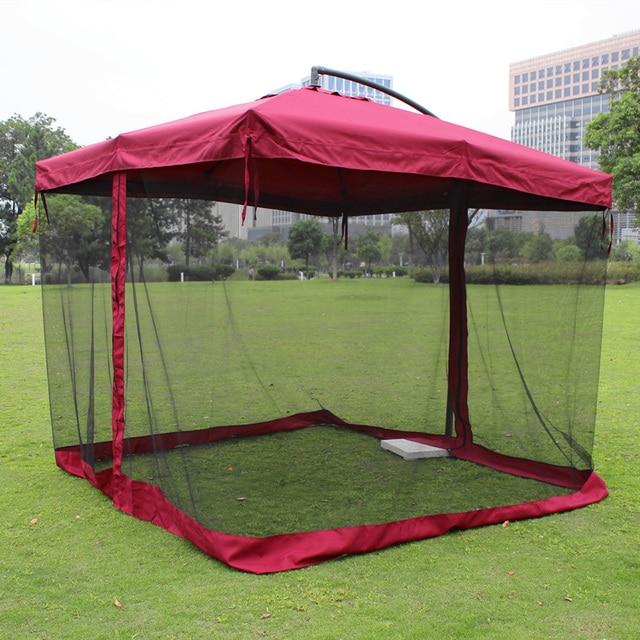 Outdoor Umbrellas Large Umbrella Square Patio Mesh Mosquito Nets Sun