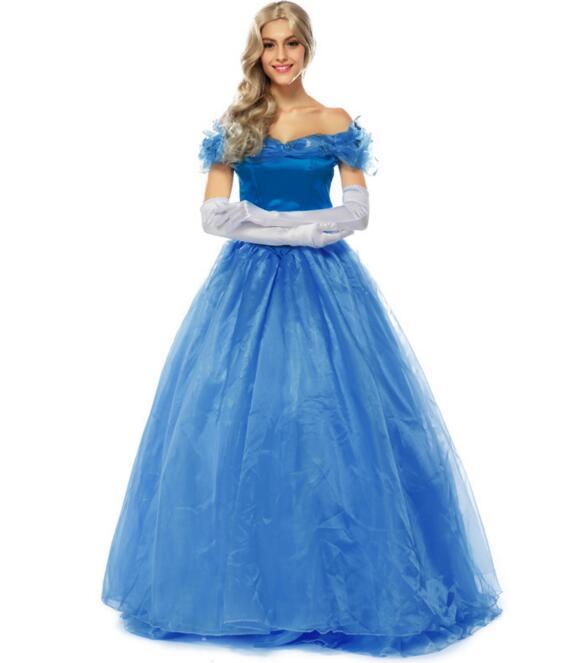 Princess Anna Elsa Queen Girls font b anime b font font b cosplay b font Dress