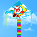 Envío de la alta calidad Rey Mono kite 20 unids/lote niño wei kite kite flying juguetes ripstop nylon con mango pulpo