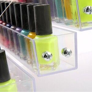 Image 4 - 6 Tiers Cosmetic Makeup Nail Polish Varnish Display Stand Rack Holder Box Jewelry Acrylic Packaging Organizer Storage Shelf