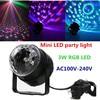 2PCS Mini RGB LED Crystal Magic Ball Stage Effect Lighting Lamp Party Disco Club DJ Light