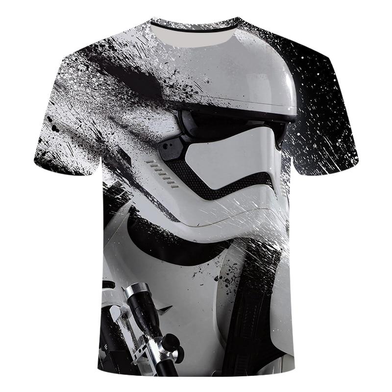 2019 nova novidade Star Wars dos homens t camisa Camisetas Hombre 3D impresso t-shirt camisa O-pescoço curto-de mangas compridas dos homens engraçado T-shirt S-6X