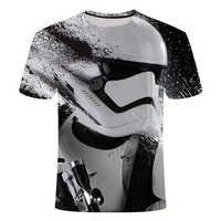2019 nueva camisa Hombre novedad Star Wars camiseta de Hombre con estampado 3D Camiseta de cuello redondo de manga corta para Hombre divertida camiseta S-6X