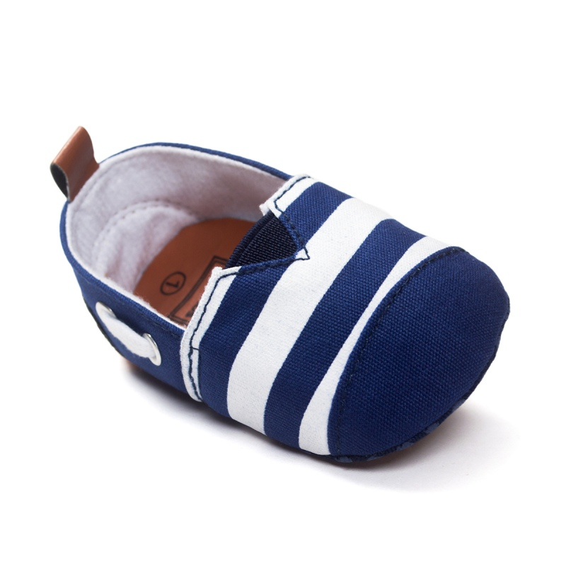 0-18 Months Newborn Baby Shoes Cotton Striped Printed Kids Toddler Crib Shoes Soft Soled Shallow First Walkers Footwear