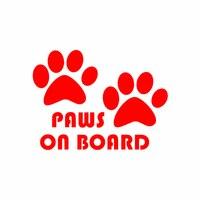 Cute Dog Paw Reflective Car Truck Vehicle Body Window Decals Sticker Decoration 4