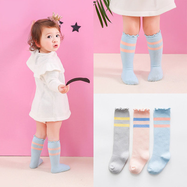 d0a0081b8b6 Infant Baby Knee High Socks Newborn Boys Girls Cute Toddler Anti-slip Socks  Soft Cotton Baby Girls Leg Warmers Breathable Socks