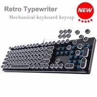 AOYEAH DIY Retro Steam Punk Keycap Typewriter Mechanical Keyboard Keycap 104 Standard Keys Gaming Gamer Russian English layout
