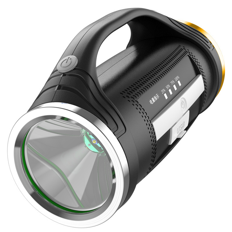 Led Flashlight Handed Portable Usb Rechargeable Torch Searchlight Multi Function Long Shots Lamp|Outdoor Tools| |  - title=