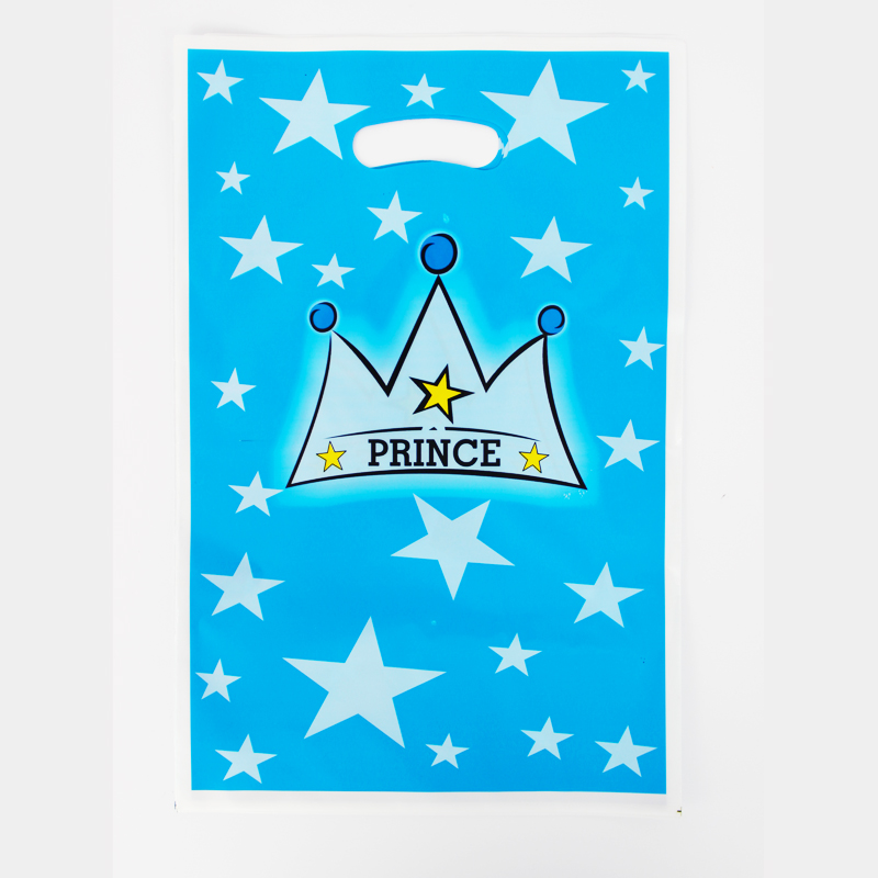 12pcs Loot Bag for Kids Birthday/festival Party Decoration Crown Prince Theme Party Supplies Candy Bag Shopping Gift Bag