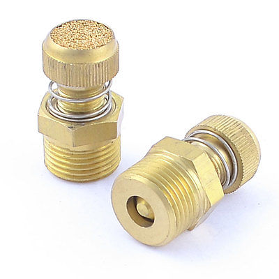 5pcs 1/8 1/4 3/8 1/2 1/8 1/4 3/8 1/2 Inch Pneumatic Brass Flow spring Control Air Exhaust Muffler Fitting Silencer jetley 1 a0335
