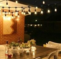 DHL 15 м Водонепроницаемый Открытый Всепогодный гирлянда для рождественской вечеринки декор струнные светильники с 15 висит розетки E27 S14 2W све