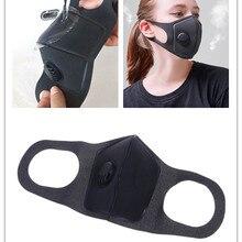 1 шт Анти-Туман Маска губка полиуретановая маска Двойная толщина дыхательный клапан Пылезащитная вентиляционная маска унисекс Новинка