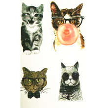 Hot SALE Lovely Cat 10x6cm Temporary Small Cute Fashion Tattoo