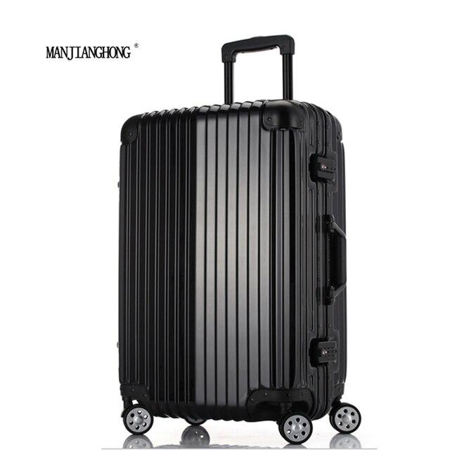 20 Pulgadas De la Alta Calidad De La Carretilla TSA Bloqueo Gancho PC + marco de aluminio ABS Ruedas Spinner Hardside Equipaje Rodante maleta