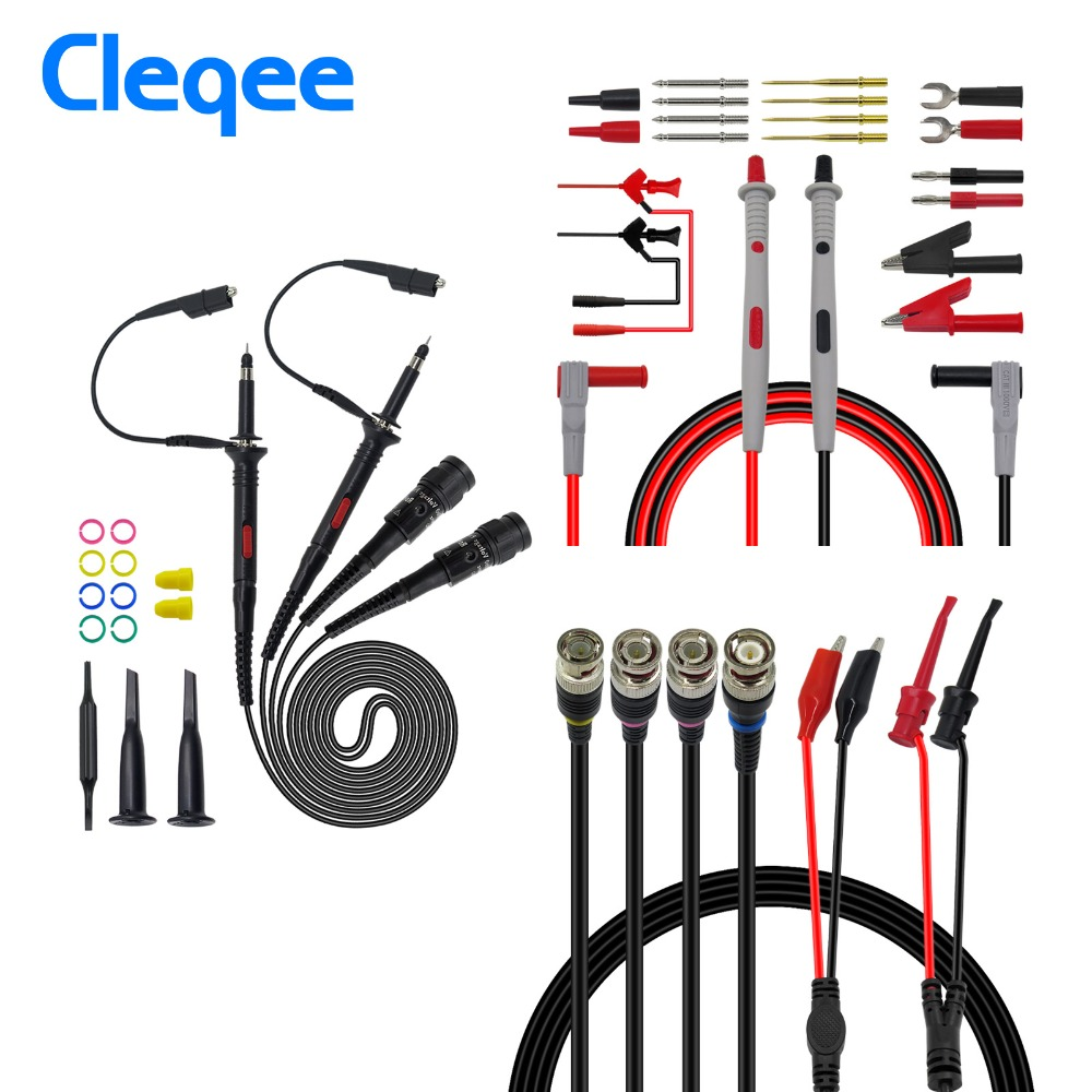 Cleqee P1260D Multi-function Test lead kit Oscilloscope Probe Replaceable Multimeter Test LeadCleqee P1260D Multi-function Test lead kit Oscilloscope Probe Replaceable Multimeter Test Lead