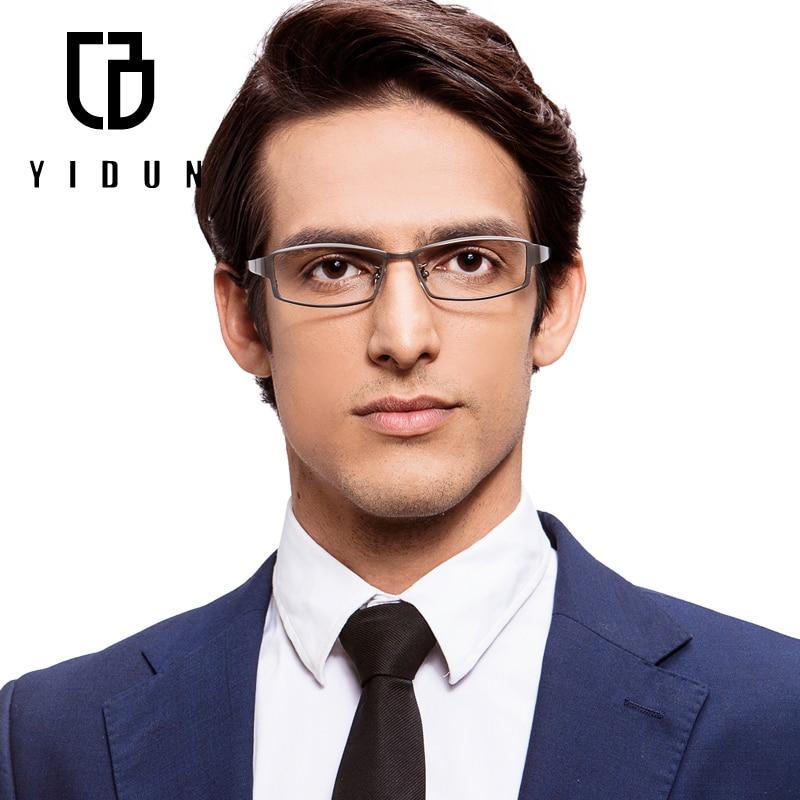 glasses 8001 titanium eyeglasses frames men optical glasses frame brand reading clear glasses suit prescription eyewear lenses in eyewear frames from mens