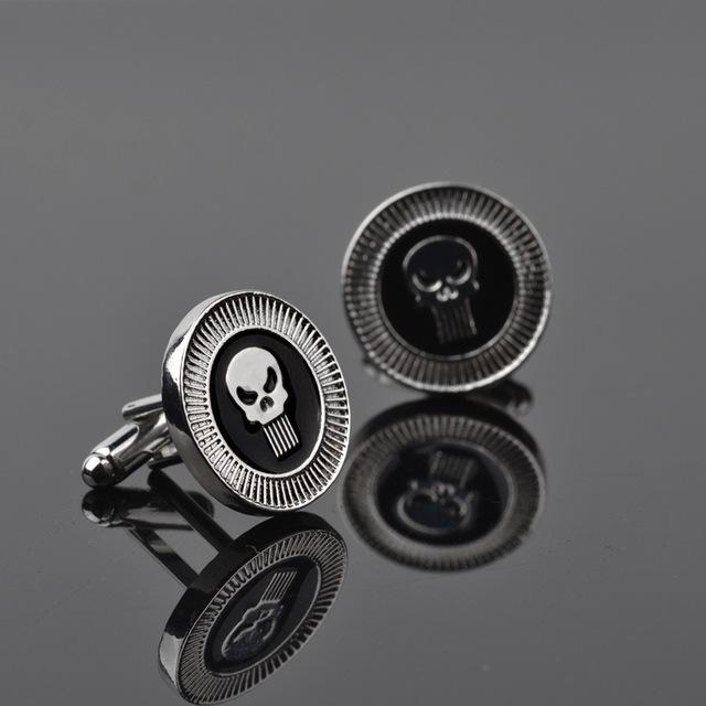 Black Fashion Punk Style Skull Cufflinks