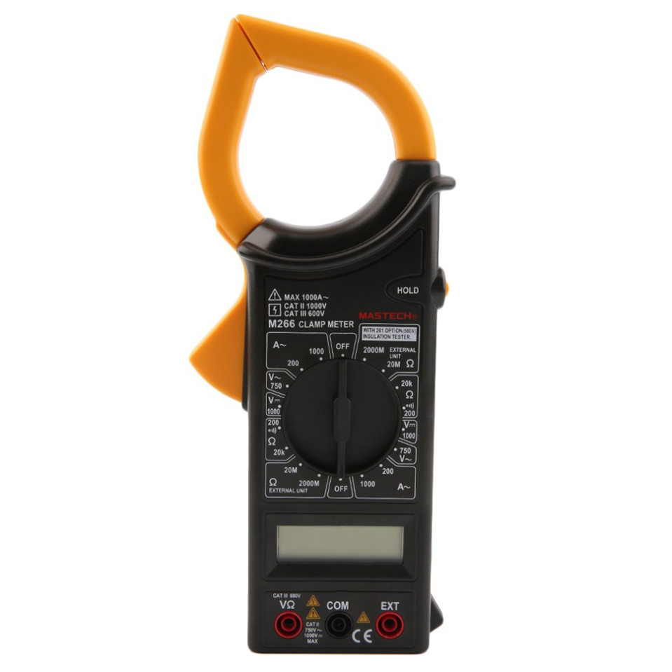 Mastech M266 Clamp Meter AC/DC Digital Multimeter Voltage Current Resistance Insulation Frequency Temperature Electrical test  цены